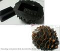 De resina de pino tuerca caja del sostenedor dominante / Geocaching escritorio / Gardon decoración