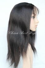 wholesale 100% chinese virgin hair half hand-tied lace wigs