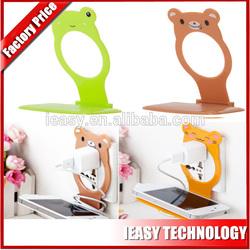 Plastic cell phone holder mobile phone charging holder lovely cute cartoon design