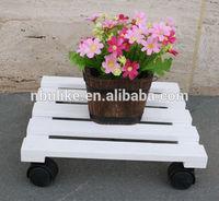 Antique solid wood garden planter holder