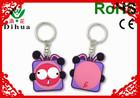 accept customized 2D/3D soft pvc rubber bullet key chain