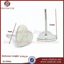 RenFook factory direct sale 925 sterling silver bali studed post earring