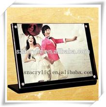 L shape acrylic frame photo in black wholesale