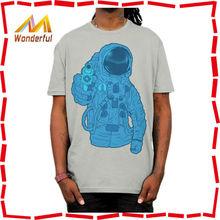2015 popular top men fashion t shirt/cool printed black short sleeve custom print tshirt cotton