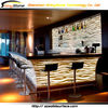 Zebra pattern inside translucent lighting design solid surface/artificial marble bar acrylic solid surface table top salad bar