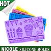 F0253 Nicole handmade cookie cake decorating tools silicone fondant mat