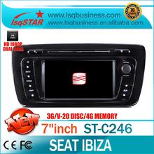 EKK yıldızı seat ibiza için 2013 araba dvd oynatıcı gps 3g 20 CDC RDS canbus
