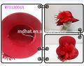 a cor vermelha das senhoras graciosas feltro de lã chapéu sagacidade com clima de flores