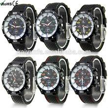 GT brand fashion analog quartz men wristwatches with silicone strap