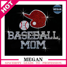 Baseball mom rhinestone hot fix transfer motifs