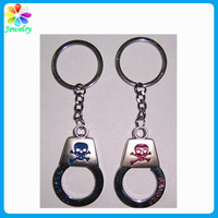 China handcuffs new arrival keychains canada souvenir keychain laser engraved keychain