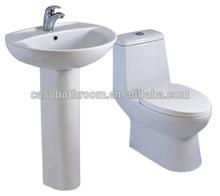 America Canada Hot!Hotel bathroom building luxury suite combination one piece toilet with sink