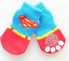 Factory Direct Wholesale Dog Witer Boots ,superman Pet Socks,Pet Footware