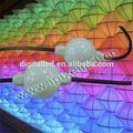 De color blanco lechoso pc caso café tienda de decoración de la pared, bola de cortina de luz led dmx, lleno de colores