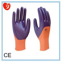 Gold supplier! nitrile 13g nylon nitrile gloves