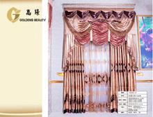 Polyester fabric window curtain plain blackout curtain for salon shop