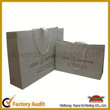 luxury black paper shopping bag,handmade low price cloth paper shopping bag