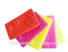 colorful logo fashionable lady money pocket silicone purse