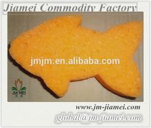 fish shaped orange bath sponge