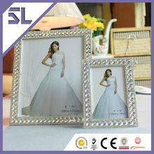Picture Frames Wholesale Decorative Crystal Rectangle Shape Bridal Wedding Invitation Picture Frame