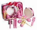2014 yeni pembe tasarım enstrüman tef seti çocuklar için oyuncak