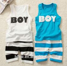 BOY cotton summer pants boy suit vest