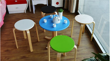 colorful hot round stool cheap price stool foot stool/wooden chair