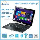 high quality low price brand new 10 inch windows 8 Intel tablet pc laptop mini laptop