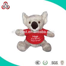 Soft Cute Plush Mini Koala bear With Printed Logo T-shirt