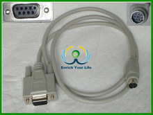 high quality D-SUB 9pin female to 8 pin mini din cable with 25FT