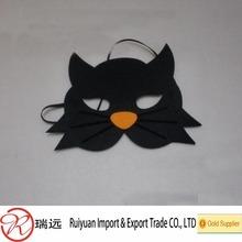 Novelty Halloween Felt black cat mask for kids from supplier RUI YUAN