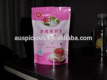 Custom made aluminum foil value tea/coffee packaging bag tin tie coffee bag