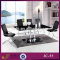 Jc-55 simple estilo de metal de vidrio muebles para el hogar mesa de comedor conjunto