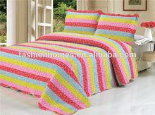 Luxury stripe bedding set/luxury brand quilt cover