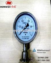Stainless steel pressure gauge with flange face taper gauge