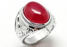 Kubuy New Product Beautiful Of Malaysian Jade Zinc Alloy Man Ring Z-268