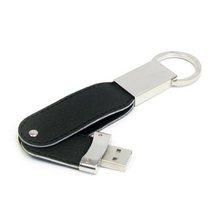 Swivel Leather Usb Flash Drive With Key