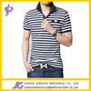 100% men cotton shirts striped yarn dyed wholesale high quality polo t-shirt