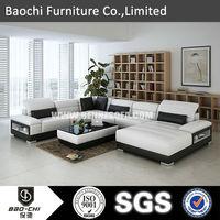 Baochi imported genuine leather sofa,raw wood furniture,leather sofa C1188