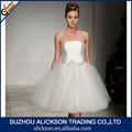 2014 vendável bola strapless vestido de tule inchado curto vestidos de noiva para as mulheres grávidas