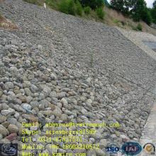 gavión colchón lleno de rocas o adoquines o piedras