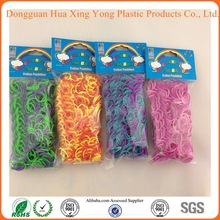 2014 Wholesale crazy tie dye style cheap loom bands kit 600 pcs of bands and hook and loom complete set for gifts