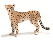 resin cheetah female animal figure for gifts or decoration