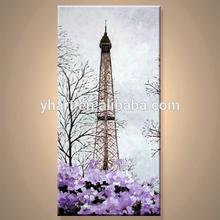 Modern Canvas Handmade Paris Oil Painting Landscape