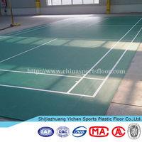 Indoor badminton court flooring 6.0mm pvc floor