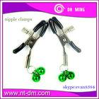 Adult sex clips/metal collars breast clip ,green color