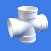 200mm flexible upvc plastic irrigation water waste pipe rain cross fitting for drainage