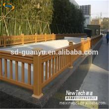 waterproof outdoor wpc hollow pillar/outdoor decorative pillars