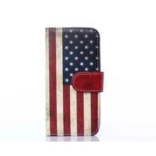 Retro Vintage US Flag Pattern Wholesale Mobile Phone Leather Case for Apple iphone 6, Bulk Sale Phone Case for Apple iphone 6