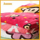 hot sale super soft cartoon print animal shaped baby plush blanket